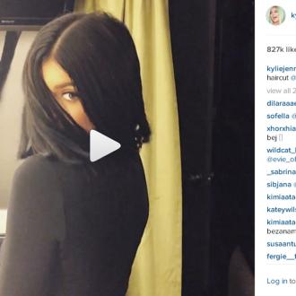 Kylie Jenner Showcases New Bob Haircut