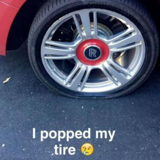 Kylie Jenner's flat tyre