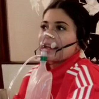 Kylie Jenner receives oxygen for altitude sickness in Peru