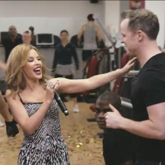 Kylie Minogue Interrupts Fans Workout To Perform New Single