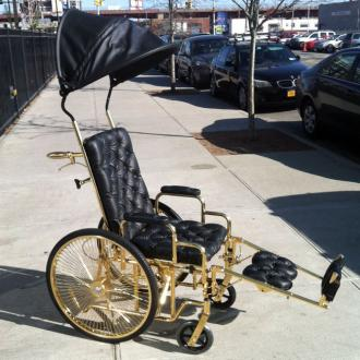 Lady Gaga Has Gold Wheelchair