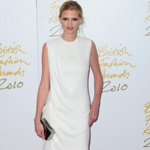 Lara Stone Knits For Elton's Son
