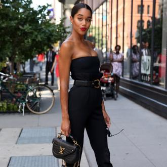 Laura Harrier Channels Her Inner 90s Naomi For Film Tour