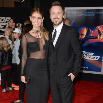 Aaron Paul gushes over wife Lauren