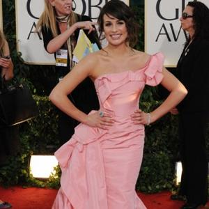 Lea Michele Leads The Pink Fashion Pack At Globes