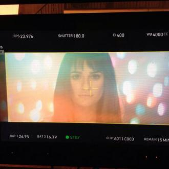 Lea Michele Shoots First Music Video