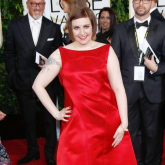 Lena Dunham wore nipple covers at Golden Globes