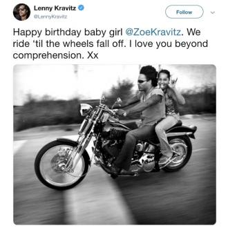 Lenny Kravitz praises daughter Zoe Kravitz on 30th birthday