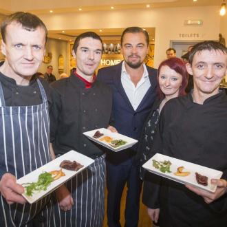 Leonardo DiCaprio visits restaurant in Edinburgh