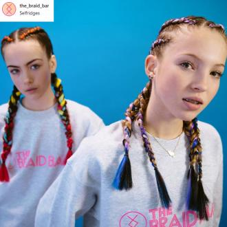 Lila Grace Moss Is The Face Of The Braid Bar