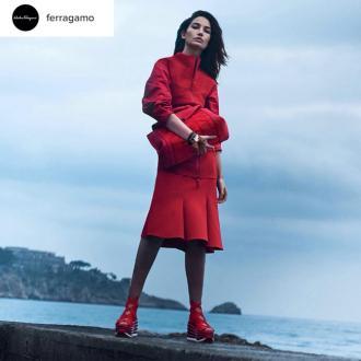 Lily Aldridge stars in Salvatore Ferragamo's S/S17 campaign