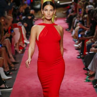 Lily Aldridge walked the runway five months pregnant