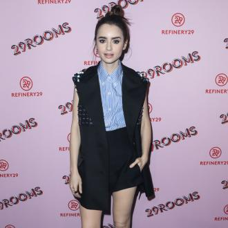 Lily Collins gets career tips from Sandra Bullock