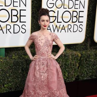 Lily Collins' Mother 'Kicked' People To Stop Them Stepping On Her Gown