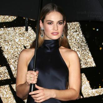 Lily James is a 'bit haphazard' with her make-up