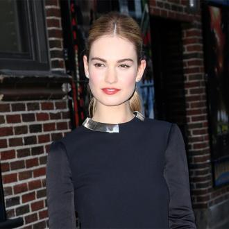 Lily James' 'haphazard' make-up
