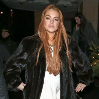 Lindsay Lohan Meets Max George's Parents