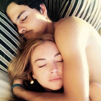 Lindsay Lohan cosies up to fiance Egor Tarabasov