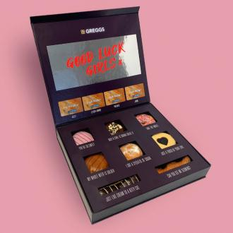 Little Mix receive special treat box from Greggs