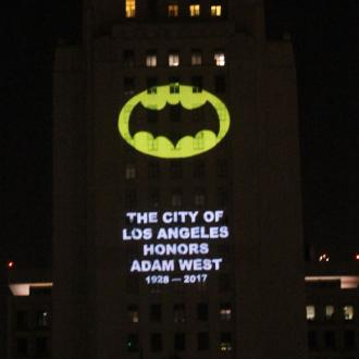 Bat-signal lights up LA in memory of Adam West