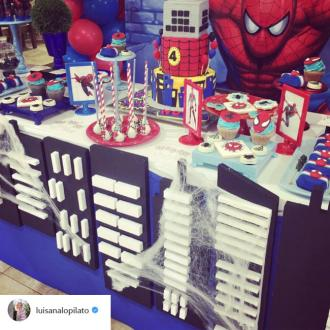 Michael Buble Throws Son Noah A Spider-man Themed Party