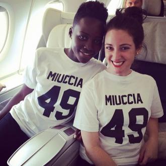Lupita Nyong'o And Stylist Support Prada In Matching T-shirts