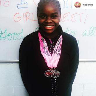 Madonna's daughter in gymnastics success