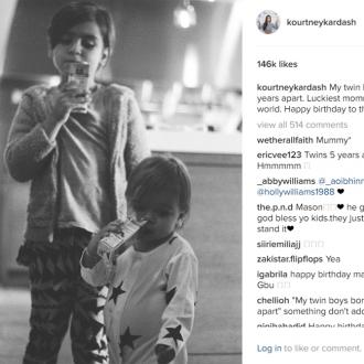 Kourtney Kardashian gushes about sons on their birthdays