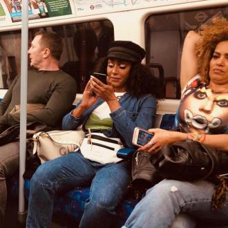 Mel B gets tube to Wembley Stadium
