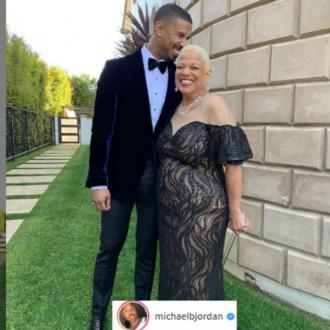Michael B Jordan attends Oscars with mom