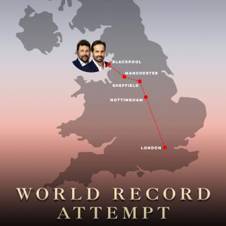 Michael Ball and Alfie Boe in record attempt
