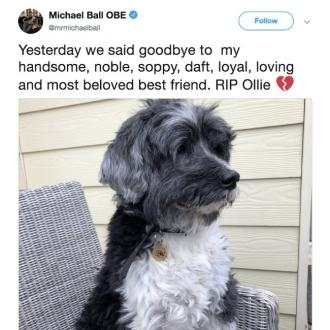 Michael Ball's dog dies