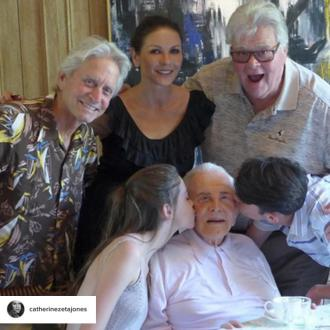 Michael Douglas celebrates Thanksgiving with father Kirk