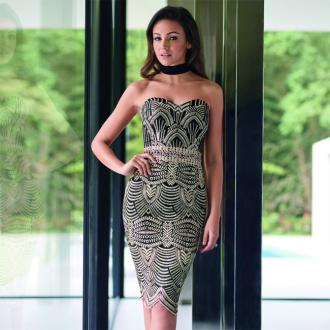 Michelle Keegan receives 'selfies' from husband Mark Wright posing next to her Lipsy campaigns