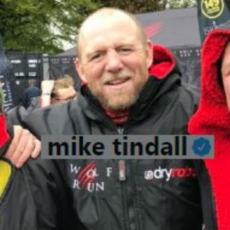Mike Tindall shows off new nose
