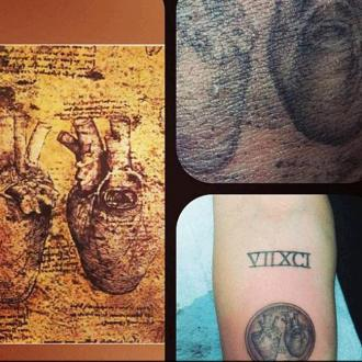 Miley Cyrus Gets Heart Tattoo