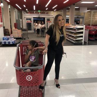 Mariah Carey's daughter takes her shopping at Target