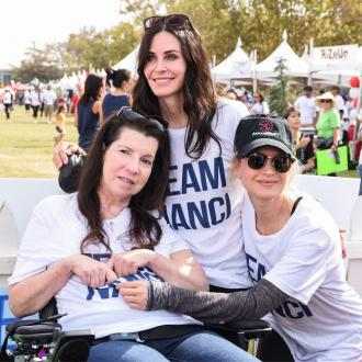 Courteney Cox and Renee Zellweger support Nanci Ryder at ALS walk