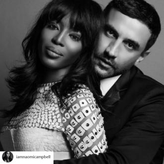 Naomi Campbell pays tribute to Riccardo Tisci on his birthday