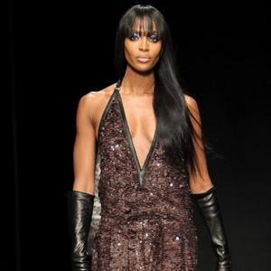 Naomi Campbell Takes To Cavalli Catwalk