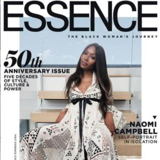 Naomi Campbell's shoots ESSENCE magazine cover at home