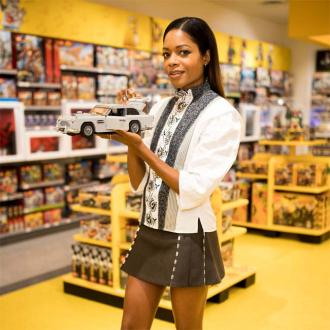 Naomie Harris Unveils Lego Bond Car