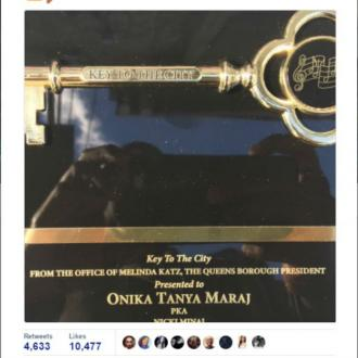 Nicki Minaj given key to Queens