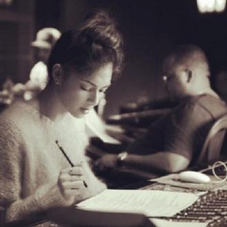Nicole Scherzinger Makes 'Magic' In The Studio