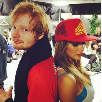 Nicole Scherzinger meets Ed Sheeran's parents