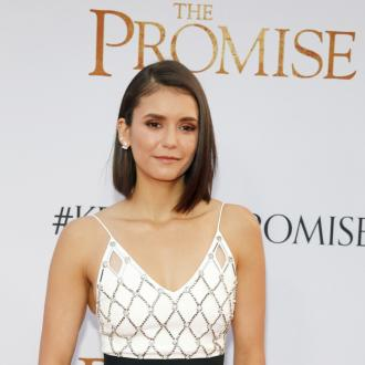 Nina Dobrev Takes Dog To The Gym