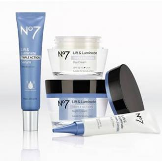 No 7 Launches New Lift And Luminate Triple Action Day, Night And Eye Cream