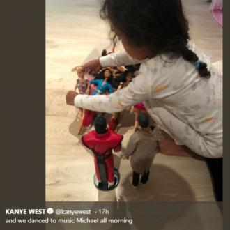 North West Plays With Kanye Doll