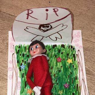 North West Buries Brother Saint's Elf On The Shelf