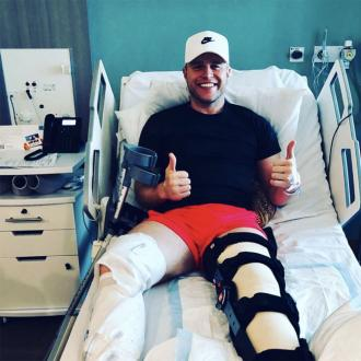 Olly Murs on social media break after serious knee surgery